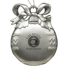 Cal State University, Fullerton  - Pewter Christmas Tree Ornament - Silver