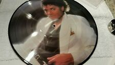 MICHAEL JACKSON THRILLER  PICTURE ALBUM...2 SIDED...SKETCHES ON  ALBUM SLEEVE