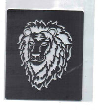 Small/stainless/steel / stencil/oblong/lion / head/emboss