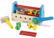 Melissa & Doug TAKE-A-LONG TOOL KIT WOODEN TOY Baby/Toddler/Child Gift/Play BN