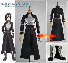 Sword Art Online ⅡPhantom Bullet Kazuto Kirito Kirigaya Cosplay Costume Shoes