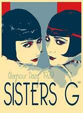GATSBY VINTAGE PRINT  PHOTO  SISTERS G  A1 SIZE FOR YOUR FRAME