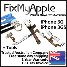 iPhone 3GS 3G OEM Power Headphone Jack Volume Mute Button Flex Cable White Tools