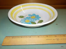 VINTAGE MID CENTURY GAMBLES IMPORT CORP. JAPAN BLUE DAISY YELLOW BANDS BOWL