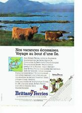PUBLICITE ADVERTISING 126  1991   Brittany Ferries ile de Skye vaches écossaises