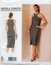©2016 VOGUE SEWING PATTERN 1498 MISSES SZ 6-14 NICOLA FINETTI, CROSS STRAP DRESS