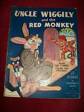 UNCLE WIGGILY AND THE RED MONKEY by Howard Garis 1943 Illustrated by Stover