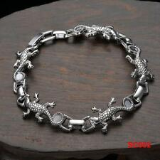 Cool Men's  HQ Stainless Steel Chain Clasp Crocodile Bracelet 8""