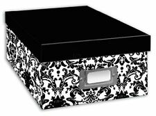 Pioneer Photo Albums B1BW Photo Storage Box, Damask Design, New, Free Shipping