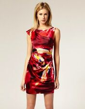 Karen Millen Mini Dress w/Neon Distorted Texture Print; US 6/UK 10/ 38