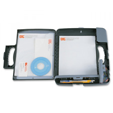 Officemate Portable Clipboard Storage Case Charcoal (83301) New Free Shipping.