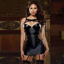 Dress Women's Black Faux Leather Role Play Dominatrix Plus Size XL XXL XXXL New}