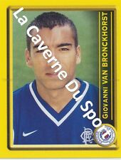 N°371 VAN BRONCKHORST NETHERLANDS RANGERS.FC STICKER PANINI SCOTTISH LEAGUE 2000