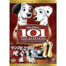 101 Dalmatians 2 Disc Platinum Ed. DVD Original Disney Cartoon New Dalmations