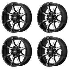 MOTO METAL MO970 MO97081067324N 18X10 -24MM OFFSET 6X135/6X139.7 BLK 4 SET RIMS