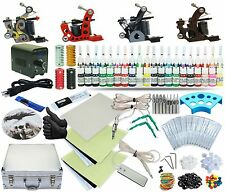 Complete Tattoo Kit 4 Machine Set Equipment Power Supply 40 Color Inks TKA-5-4