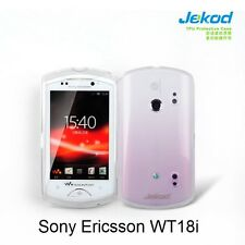 Jekod white TPU gel silicone case cover + screen prot. for Sony Ericsson WT18i