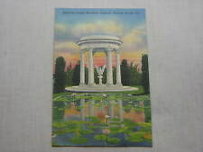 Old Vintage Linen Postcard American Legion Fountain Daytona Beach Florida River
