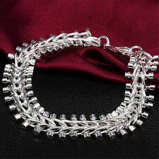 Fashion 925 Sterling Silver plating Jewelry Fish bone Bracelet For Women S01