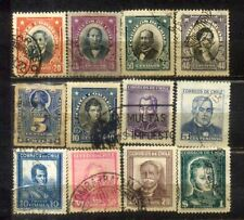 Chile small Used Stamps Lot  1