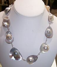 GORGEOUS NATURAL MABE PEARL NECKLACE ESTATE CLEARANCE CLOSEOUT SALE GREAT VALUE!