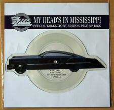 ZZ TOP My Head's In Mississippi Shaped VINYL Picture Pic Disc + backing card