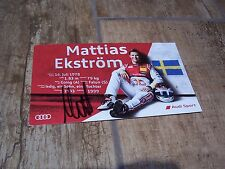 Photo signée  / Signed Photo Card Mattias EKSTROM  AUDI Sport  2016 //