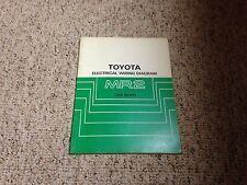 1988 Toyota MR2 MR-2 Factory Original Electrical Wiring Diagram Manual Book