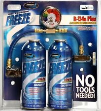 JOHNSEN'S R134A, FREEZE, REFRIGERANT, COLD AIR FAST! No Tools Needed 28 oz.