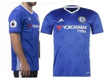 Brand New Genuine Adidas Chelsea 2016/17 Home Shirt + EPL Patches  Mens Large