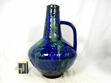 Beautiful blue & yellow glazed 60´s design Carstens Keramik Vase 101  27 cm