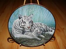 """""""White Tigers"""" NATIONAL WILDLIFE FEDERATION Michael Matherly Franklin Mint Plate"""