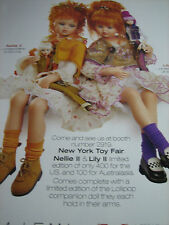 Jan McLean Doll NELLIE II and LILY II  Ad / Advertisement ONLY
