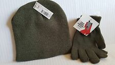 Screen Touch Knit Glove and Hat Set.  Green.   NEW