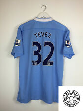 Manchester city tevez #32 11/12 home football shirt (xl) soccer jersey umbro