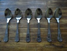 BRAND NEW Coffee Spoons King's Pattern Cutlery by Grunwerg, Sheffield x 6