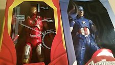 "NECA Avengers Iron Man MK7+Captain America 18""1/4 Action Figure Marvel Civil War"