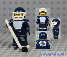 LEGO Series 4 - Hockey Player Minifigure Stick Puck NHL 8804 Collectible Minifig