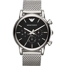 NEW EMPORIO ARMANI AR1811 MENS MESH LUIGI WATCH - 2 YEAR WARRANTY