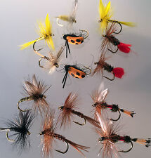 Fishing Flies Selection of 14 Dry FLY Trout  FINEST QUALITY UK Dry Flies PACK#6