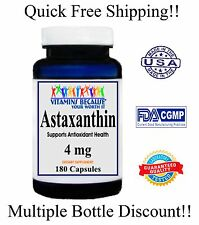 Astaxanthin Powerful Antioxidant Support 4mg 180 caps 6 Month Supply Made In USA