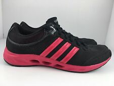 Adidas Climacool CC Solution Women US 8.5 Black + Pink Lightweight Running Shoes