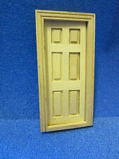 Quality 1/24th scale Dolls House  DIY   6 Panel internal door   24th