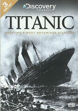 TITANIC MARITIME'S MOST NOTORIOUS DISASTER - 3 DVD BOX SET - DISCOVERY CHANNEL