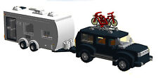 LEGO INSTRUCTIONS to build a camper trailer & SUV Nissan Pathfinder NO BRICKS