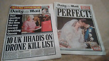 THE DAILY MAIL SEPT 9 2015 INC THE MAIL FROM 30/7/1981 PERFECT