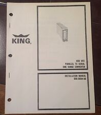 King KDD 693 Parallel to Serial DME Range Converter Install Manual