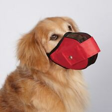 Guardian Gear Soft Sided Fabric Mesh Dog Muzzle Red - Medium