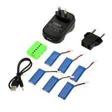 6 in 1 WSX-X6A Charger Set w/6pcs 3.7V 500mAh Lipo Battery for JJRC H37