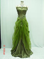 Cherlone Grün Hochzeit/Abend Abendkleid Ballkleid Brautkleid Kleid 40-42